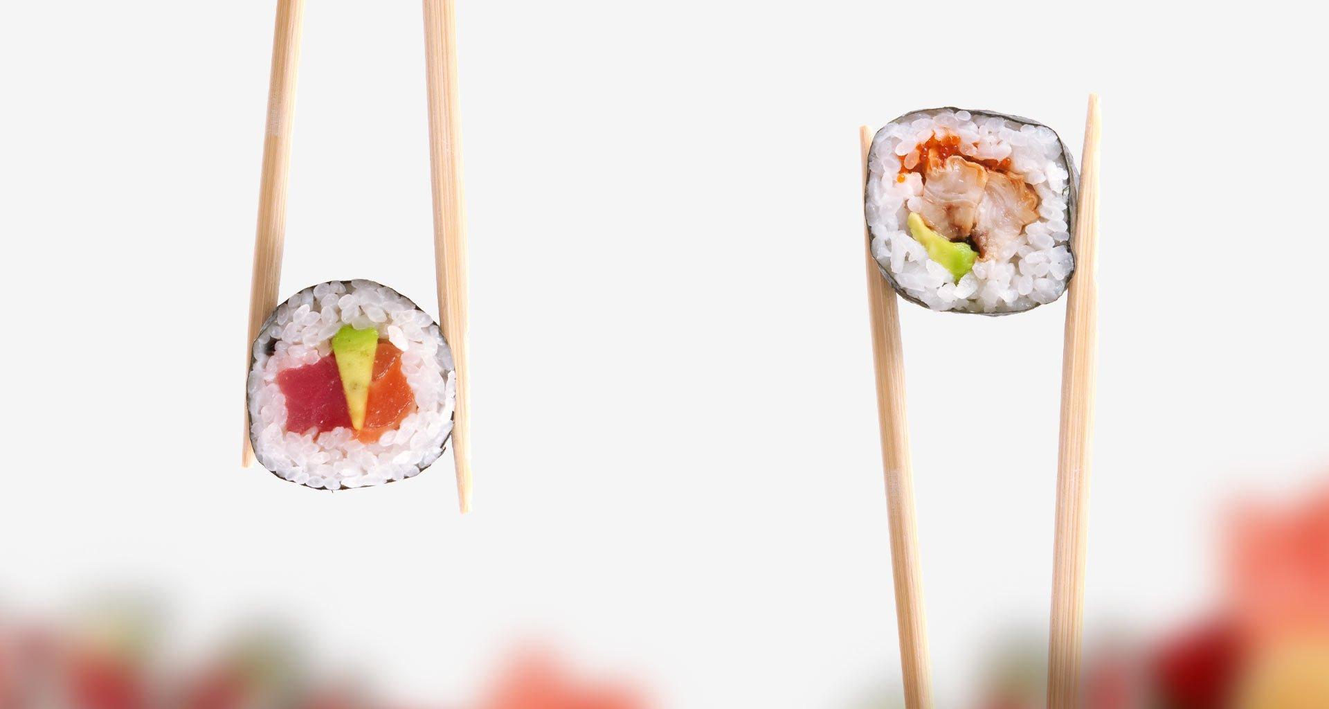 destrucción de parásitos de sushi