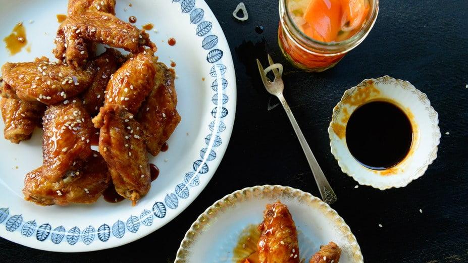 alitas de pollo estilo coreano