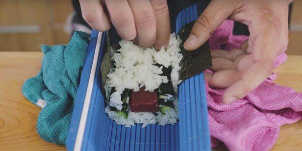 preparar Decoración Sushi de Cangrejo